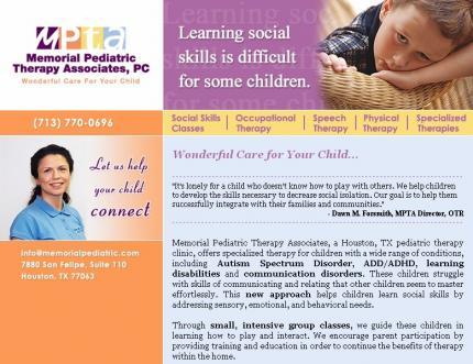 Memorial pediatric therapy clinic altavistaventures Choice Image