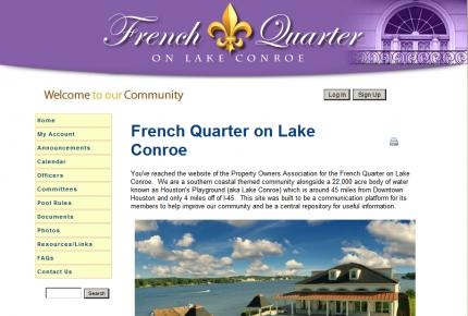 French Quarter on Lake Conroe